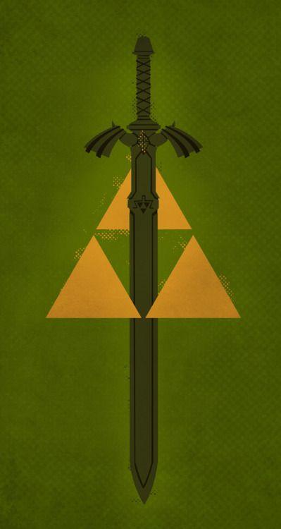 Legend Of Zelda Master Sword And Triforce Minimalist Poster My