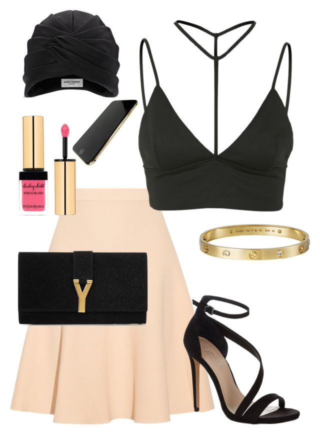 """Senza titolo #19"" by iamrealsonic ❤ liked on Polyvore featuring Jonathan Simkhai, Oh My Love, Carvela Kurt Geiger, Cartier and Yves Saint Laurent"