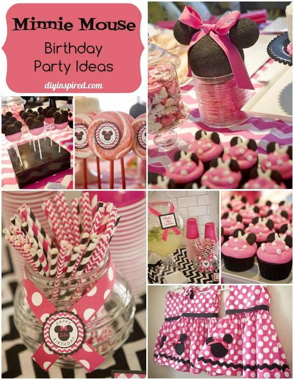 DIY Minnie Mouse Birthday Party Ideas
