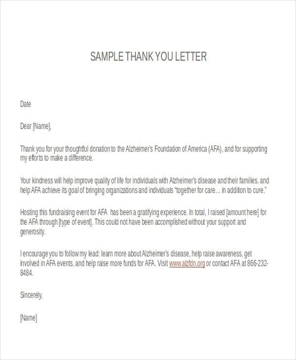 Thank You Letter Format Free Amp Premium Templates Fundraising For