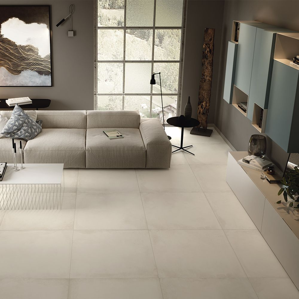 Carrelage sol effet béton 60x60 Origini Imola   Carrelage effet beton, Decor salon maison ...