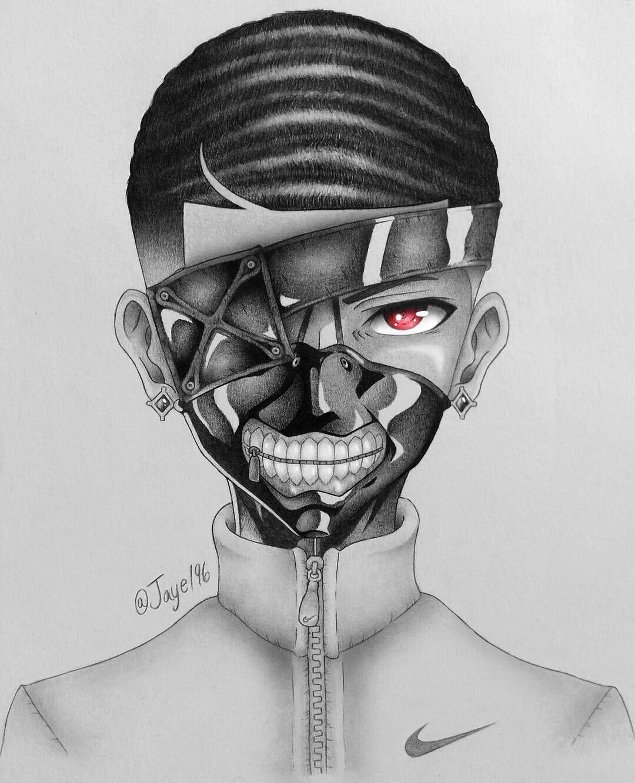 Pin By Bishi Afeez On Feez Man Anime Characters Male Black Anime Characters Black Love Art