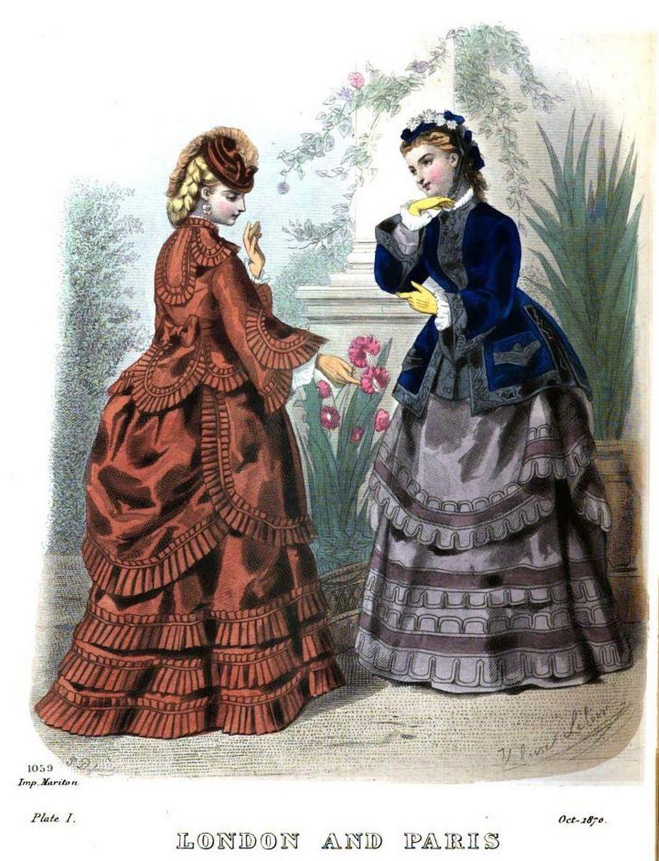 the london and paris ladies magazine of fashion 1870