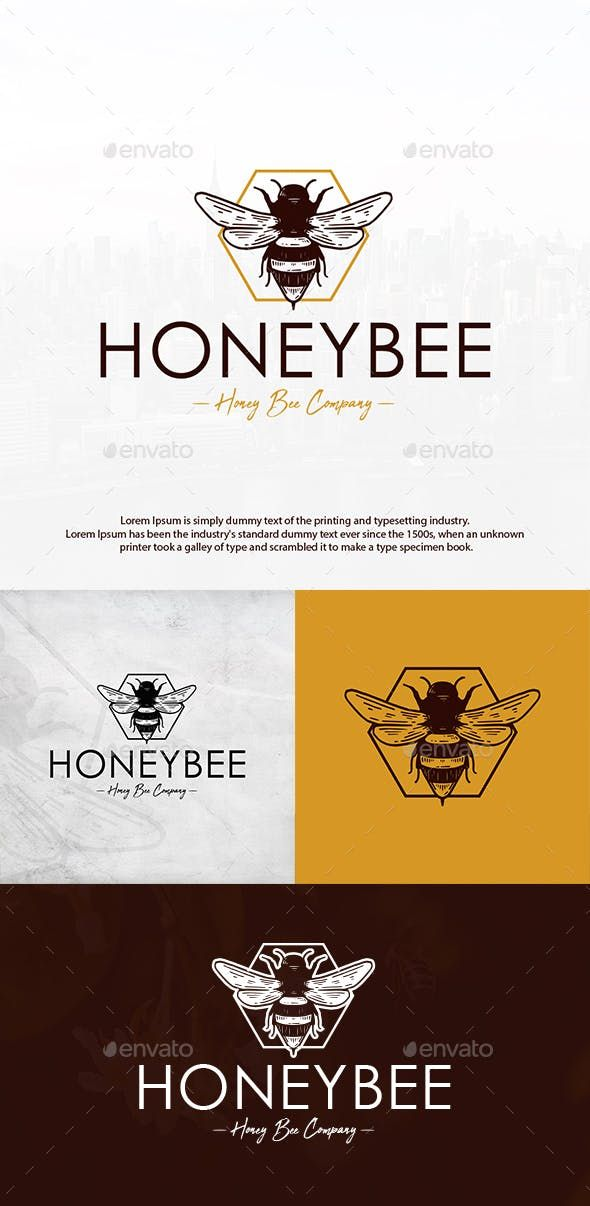 Honey Bee Vintage Logo