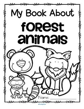 forest animals activity printables read color and draw make a book kidsparkz new. Black Bedroom Furniture Sets. Home Design Ideas