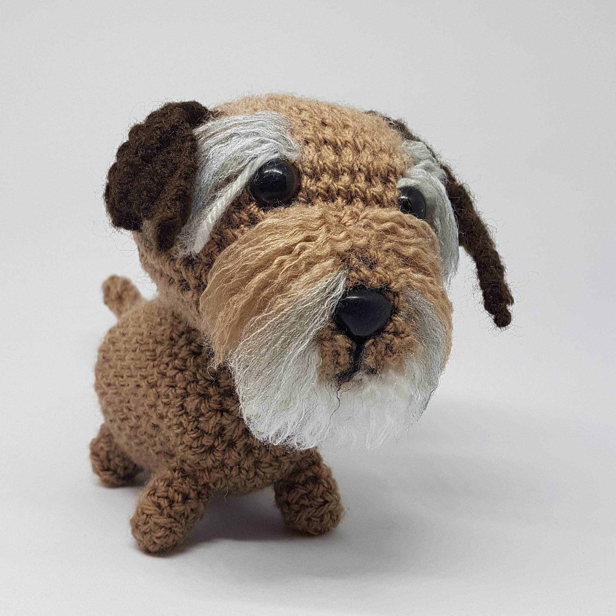 Border Terrier Dog Handmade Plush Terrier Gifts For Her