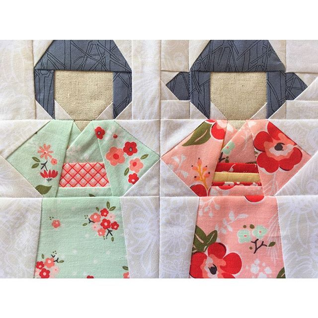 Kokeshi Doll Quilt Block Pattern Doll Quilt Quilt