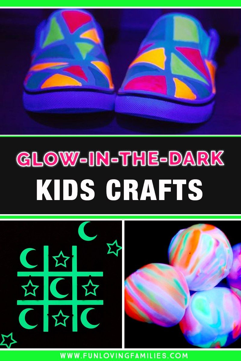 9 Easy Glow In The Dark Crafts For Kids Fun Loving Families In 2020 Crafts For Kids Homemade Puffy Paint Tween Crafts