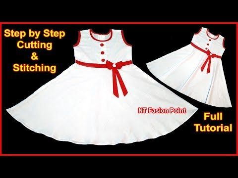 f8fe961bb2edaf Highly Simple and Most Beautiful Wonderful White Cotton Baby Frock Cutti.