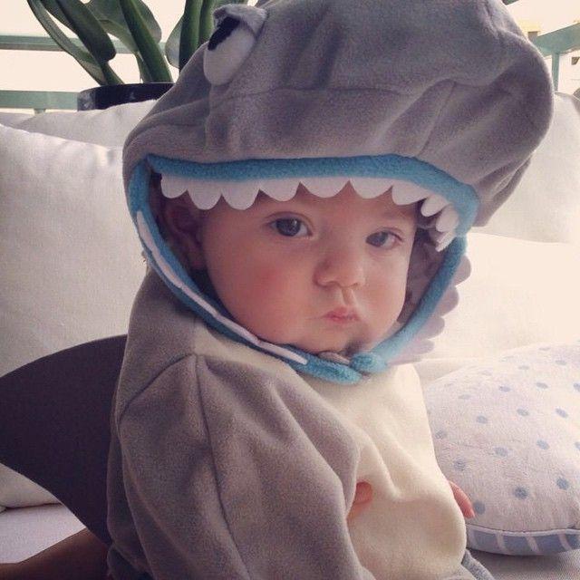 Alessandra Ambrosio: Missing this little shark  #toocute #babydylan #titiacorija #babyshark