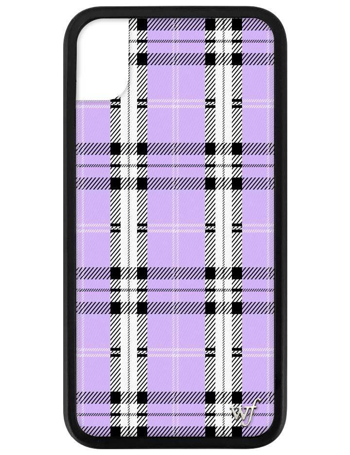 Lavender Plaid iPhone Xr Case Wildflower phone cases