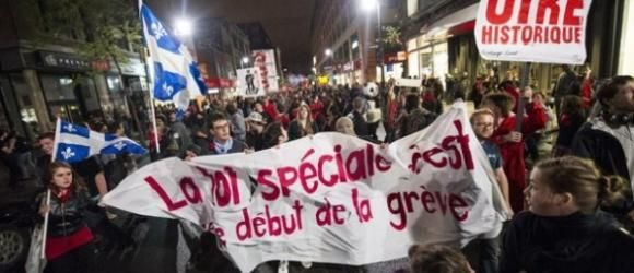 Le gouvernement québécois réclame des amendes contre les étudiants grévistes (Mai 2012)