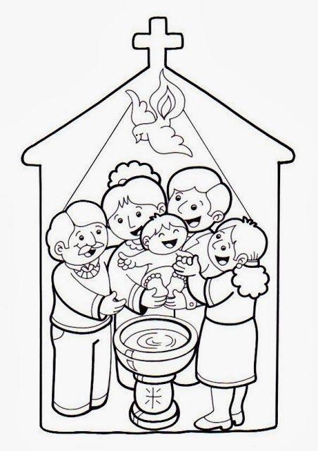 RELIALBA: FICHAS SOBRE EL BAUTISMO PARA COLOREAR. | Biblia ...