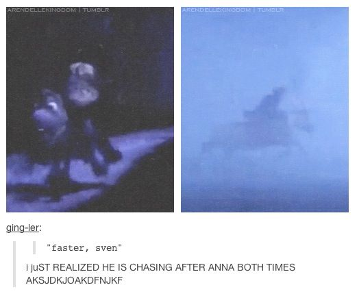 I noticed this the second time I watched the movie ~frozen~