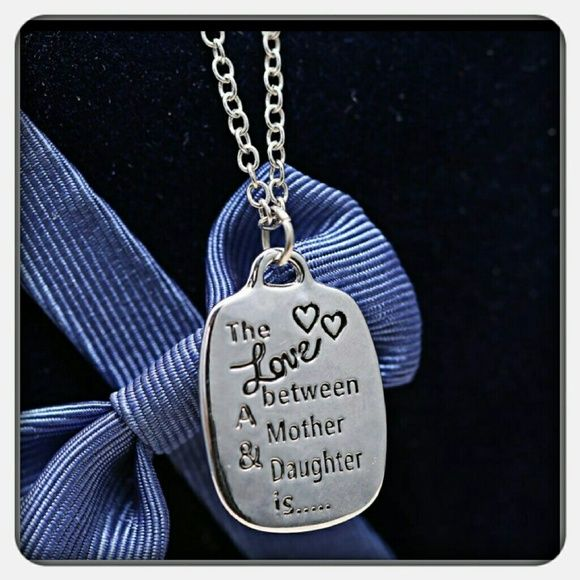 MOTHER/DAUGHTER SPECIAL NECKLACE An amazing inscribed special message for mother or daughter.  Great gift for either. Jewelry Necklaces