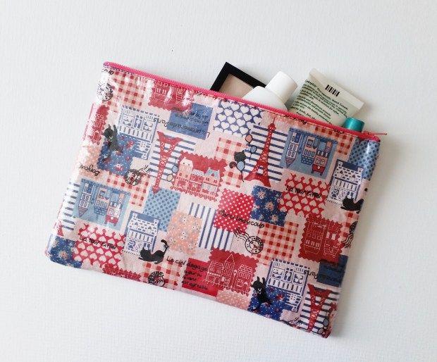 DIY Laminate Fabric Pouch Tutorial | Pouch tutorial, Cat ...