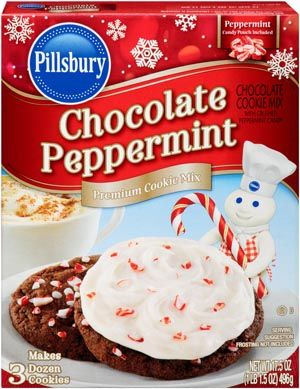 Chocolate Peppermint Cookie Mix With Crushed Peppermint Candy