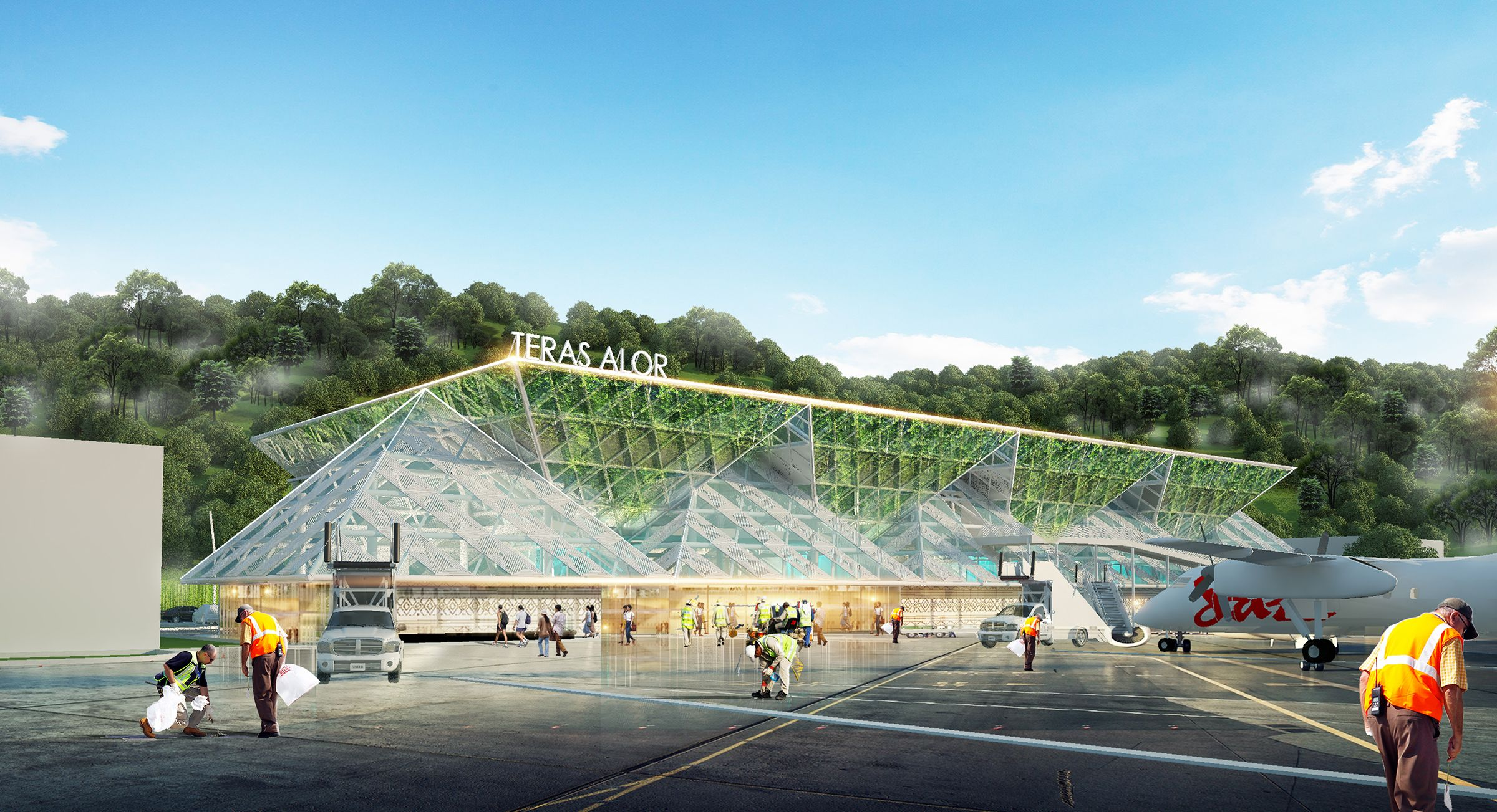 Sayembara Propan Arsitektur Nusantara Bandara Mali Alor Asia Raya