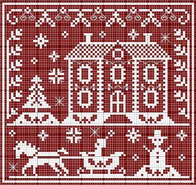 Grille tricot noel recherche google grille jacquard - Broderie traditionnelle grille gratuite ...