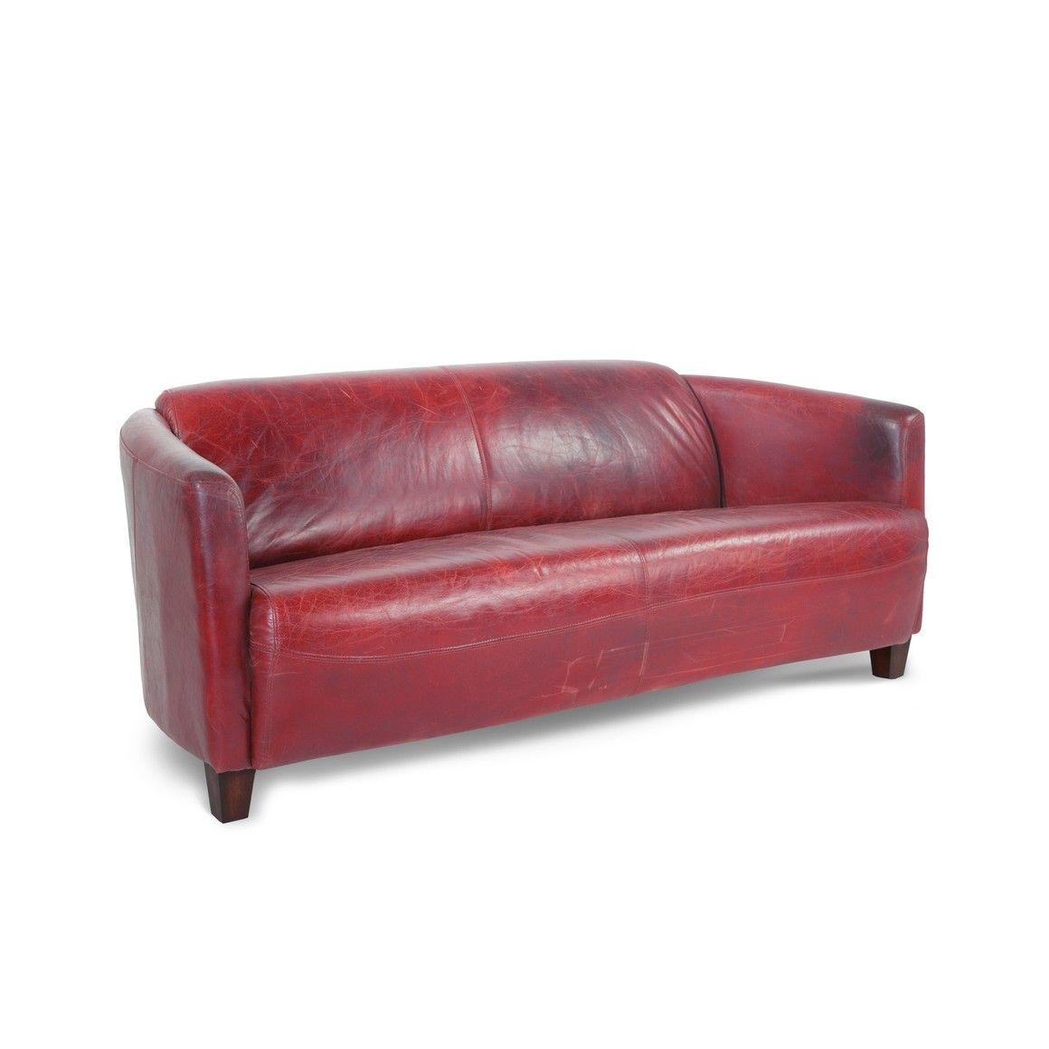 2 5er Ledersofa Vintage Rot Cooper Rot Gummibaum 14949101 0
