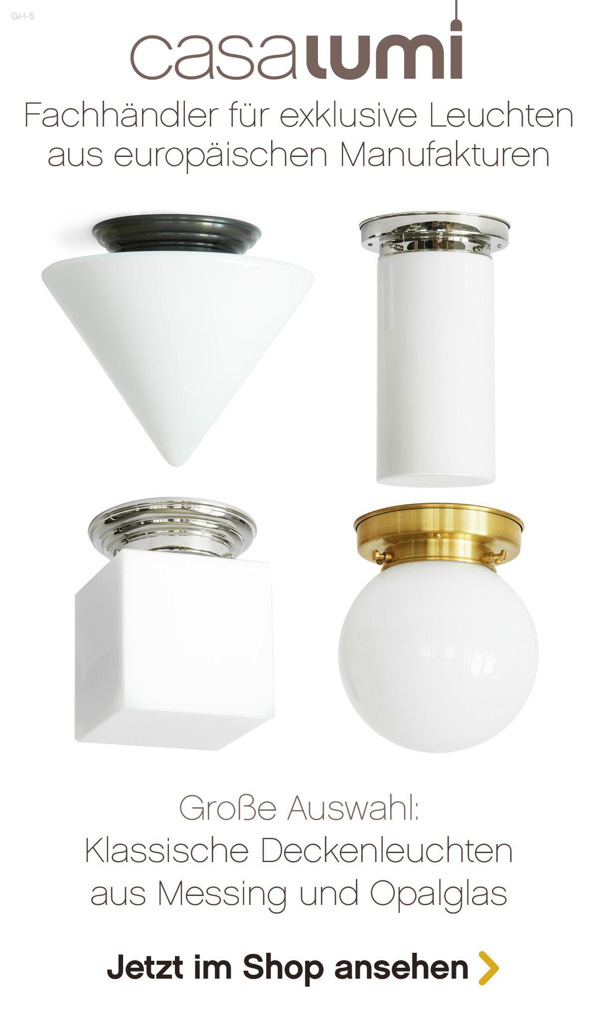 Wandlampe Deckenlampe Art Deco Jugendstil Bauhaus Opal-Glas Messing Antik Lampe