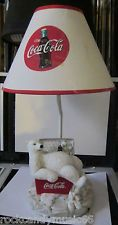 Coca Cola Polar Bear Lamp in Coca Cola Ice Cooler - PRE-OWNED