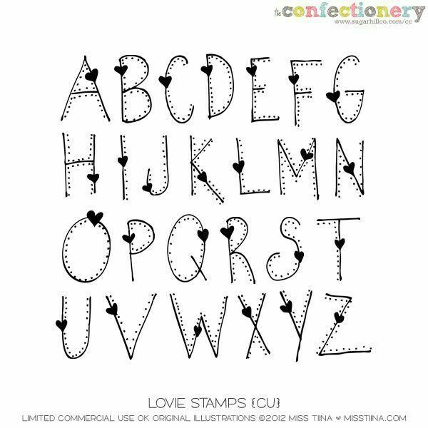 Creative Lettering Alphabet Fonts Handwriting Brush Handlettering Heart Font Cute