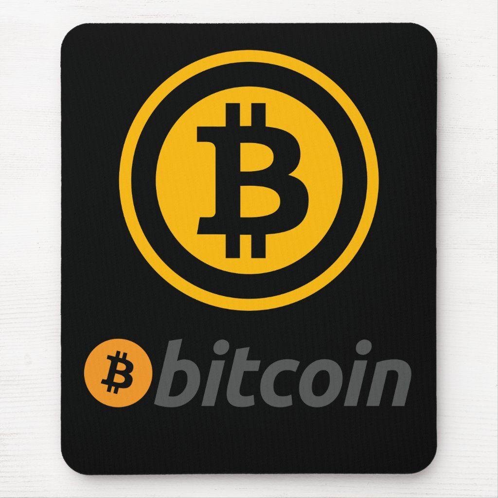 Bitcoin Logo Mouse Pad Zazzle Com Bitcoin Logo Bitcoin Logos