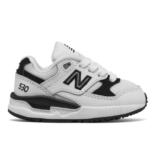 9e2fd689a92e 530 New Balance Kids  Infant and Toddler Lifestyle Shoes - White Black  (KL530LBI)
