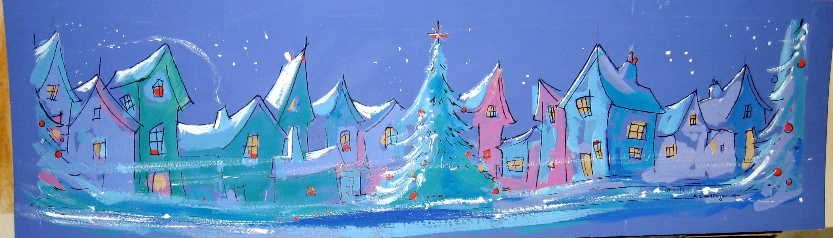 Christmas Card Painting | My Alvin Hollingsworth Collection | Pintere ...