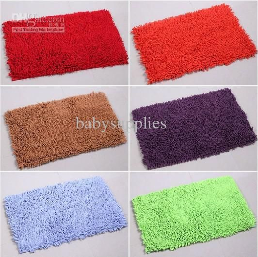Chenille Floor Mat Blanket Absorbent Anti Skid Bath Rug