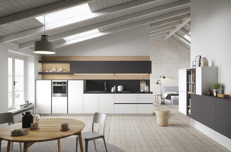 einbauküche im modernen stil mit kücheninsel mit halbinsel first, Kuchen
