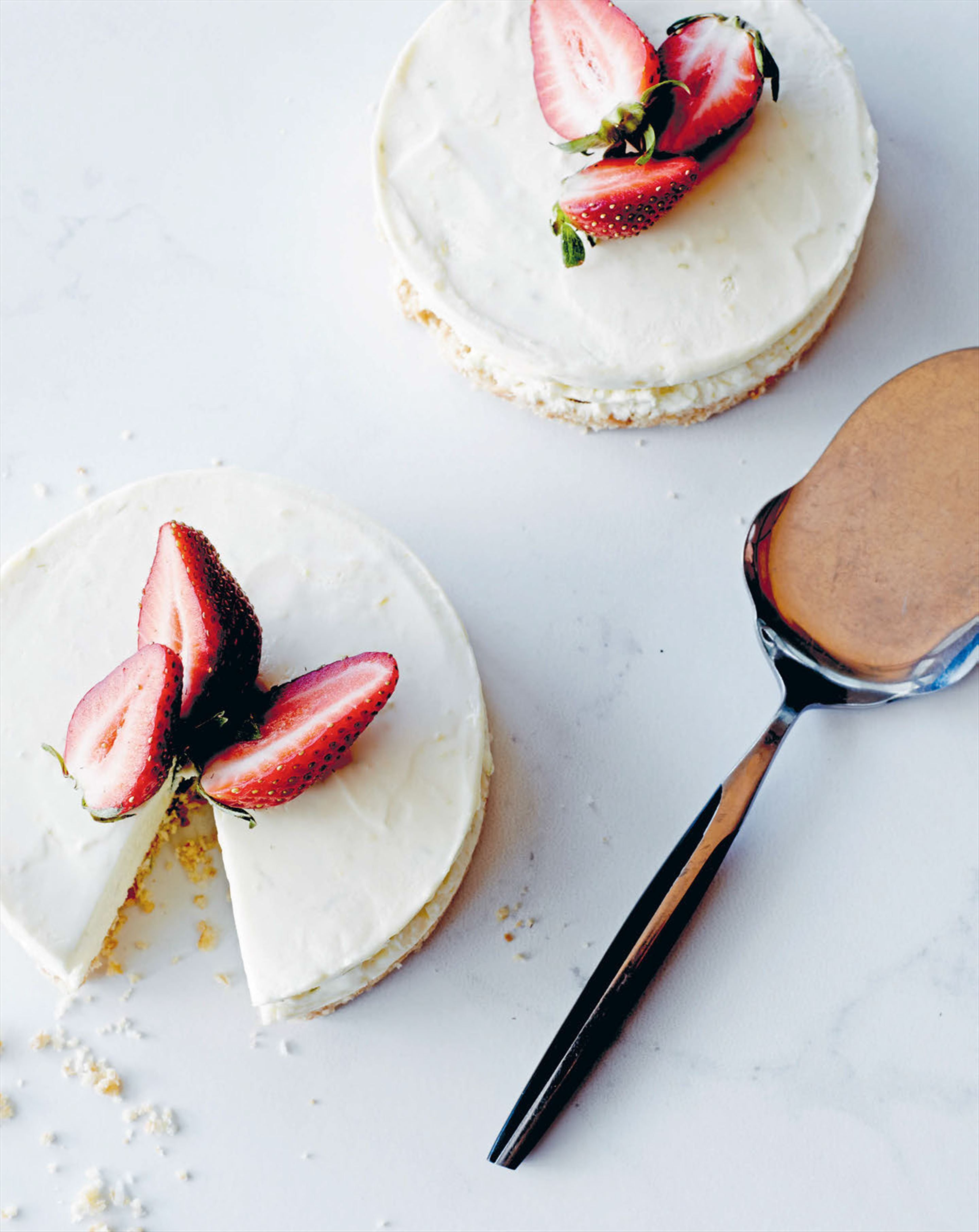 Tangy citrus cheesecakes recipe from My Italian Kitchen by Laura ...