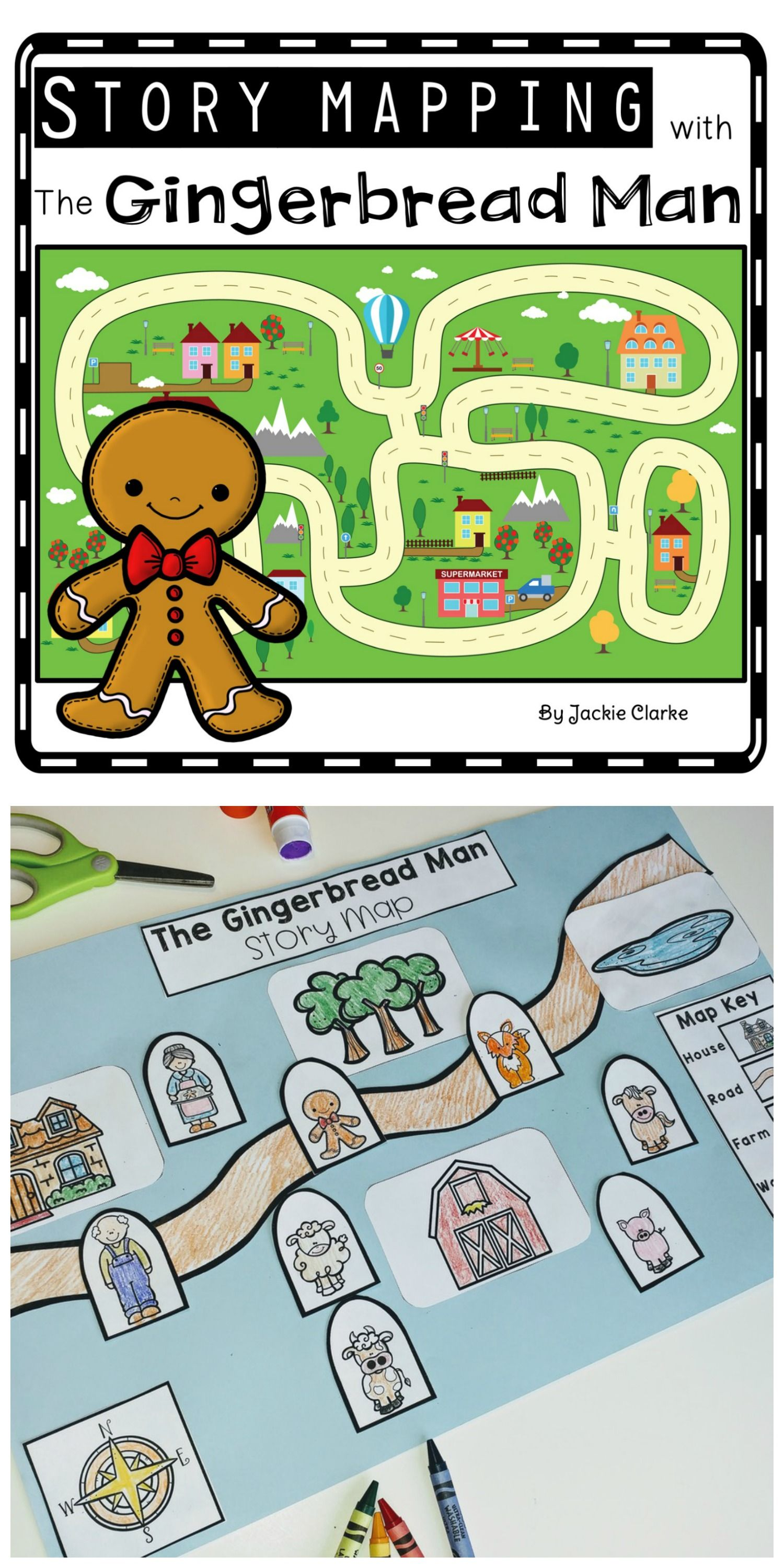 Fairy Tale Story Maps The Gingerbread Man Story Elements