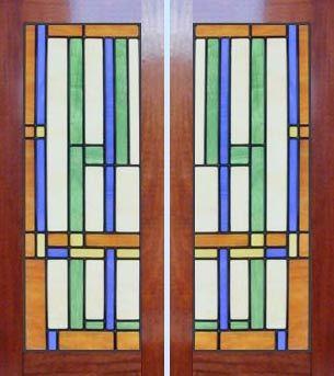 Frank Lloyd Wright Window Designs | ... Leaded Stained Glass Frank Lloyd Wright Abstract Windows Glass Design