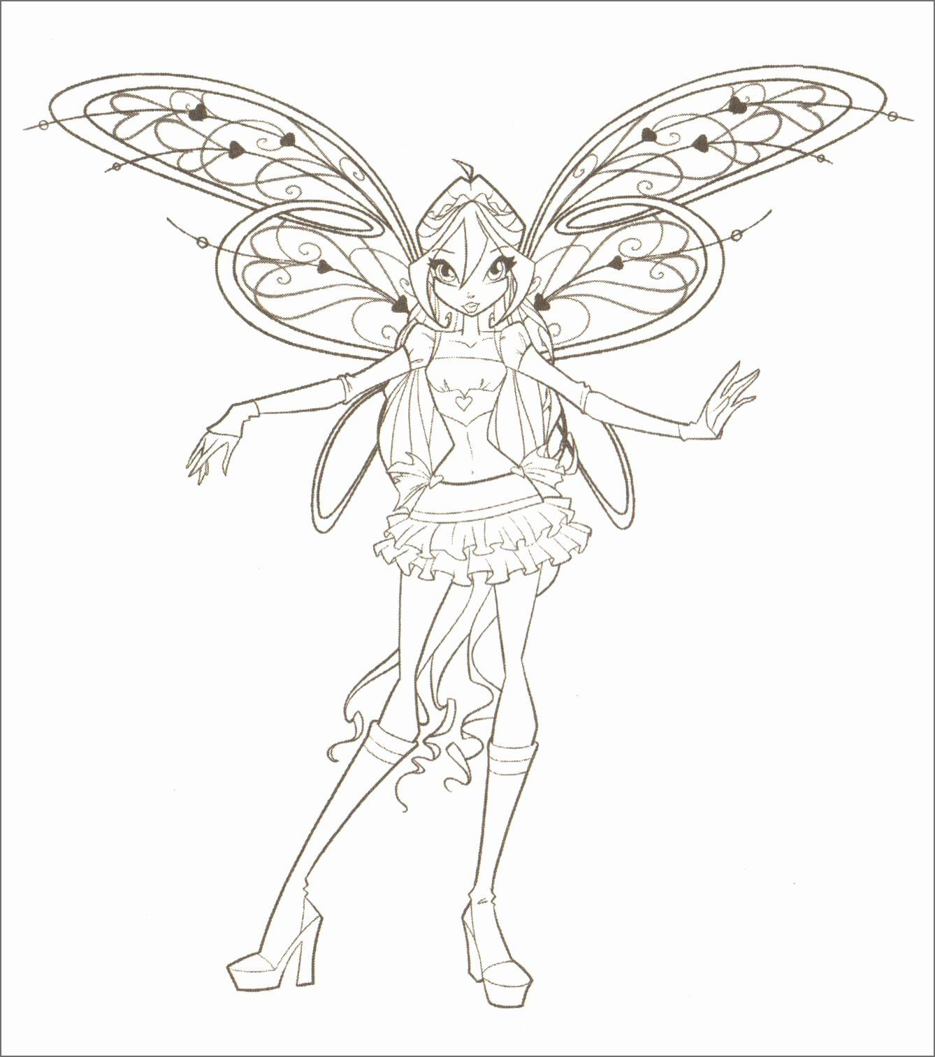 Winx Club Coloring Pages Elegant Coloriage Bloom Winx Club Luxe