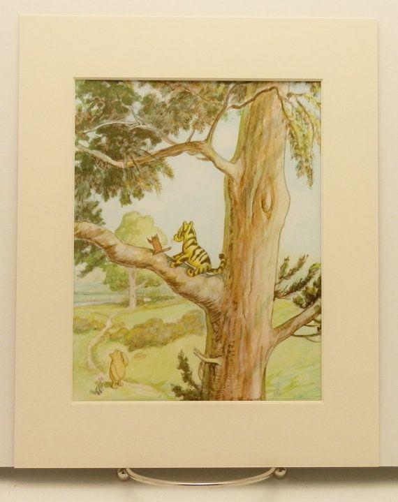 Classic Winnie the Pooh Nursery Print (Tiggers Dont Climb Trees ...