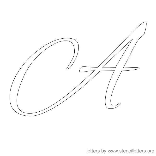 cursive alphabet stencil letters a z cursive letters stencil letters ready to print free printable letter stencils in cursive