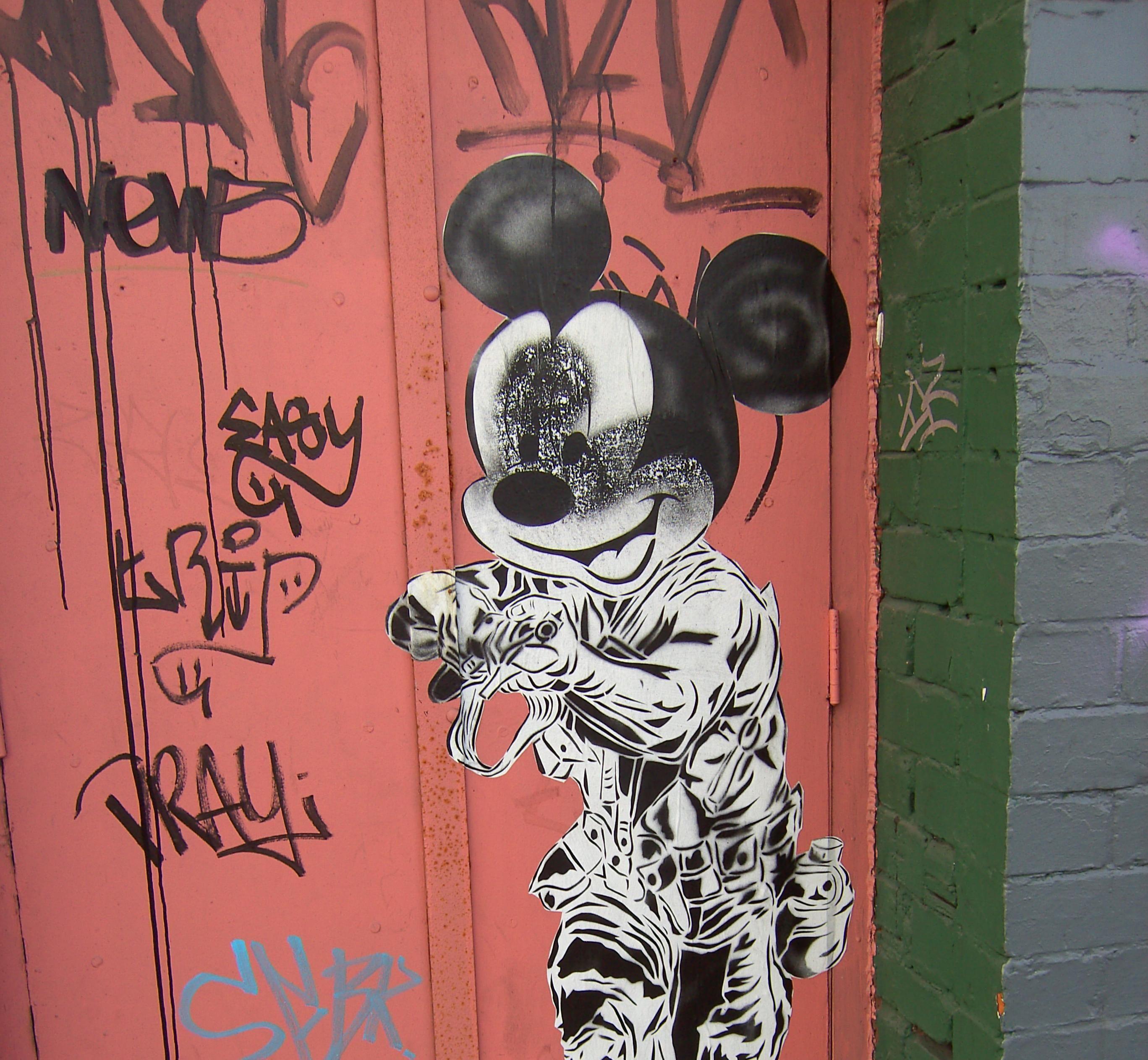 Mickey Mouse #graffiti