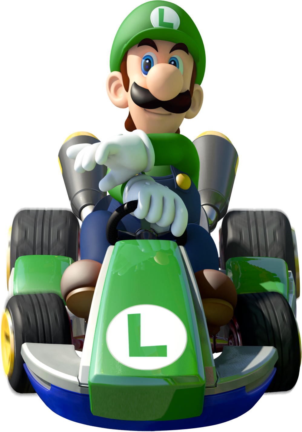 Luigi In Mario Kart 8 Mario Kart Mario Kart Characters Mario Kart 8