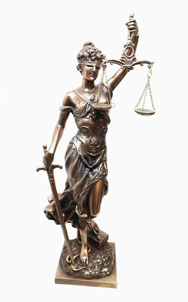 Greek Titaness Goddess Themis Law and Justice Office Home Decor Figurine Statue