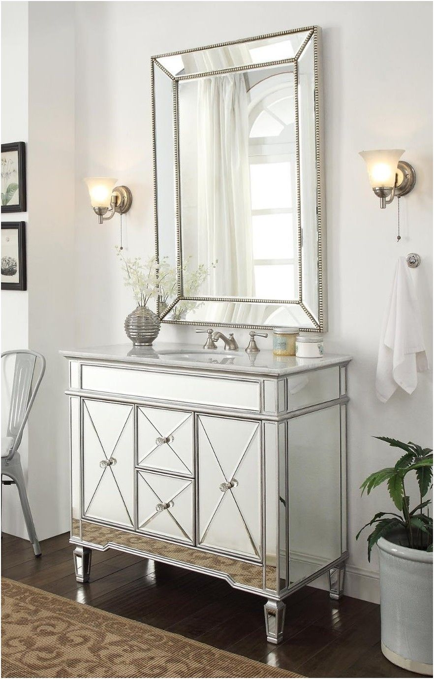 Mirrored Bathroom Vanity Cabinet 46 Cute Interior And Makeup from ...