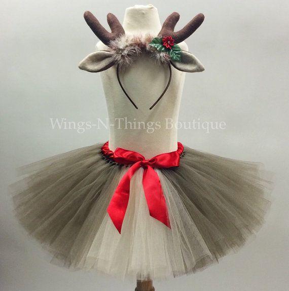 Check out REINDEER TUTU SKIRT Set w/ Antler Headbeand, Children's Costume, Photo Prop, Christmas, Dress up, Toddler, Kids, Girls, 1/2T, 3/4T, 5/6, 7/8 on wingsnthings13