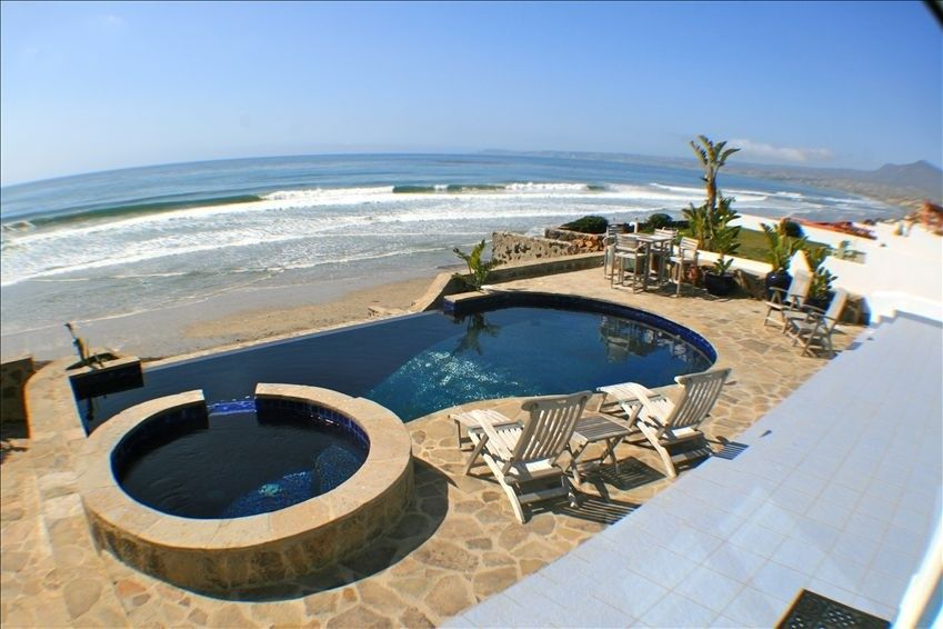 Rosarito Beach House Al Exclusive Beachfront Home With Endless Heated Pool And Bar On Homeaway