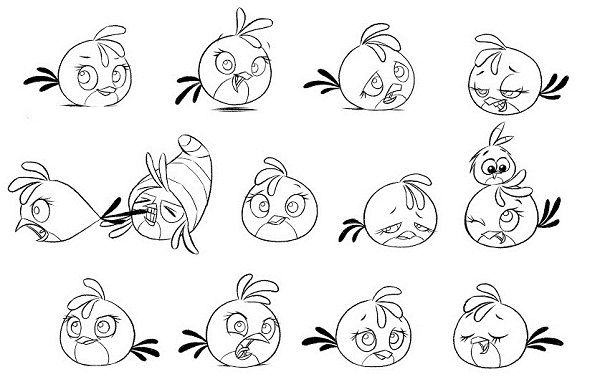 Angry Birds Coloring Pages Stella