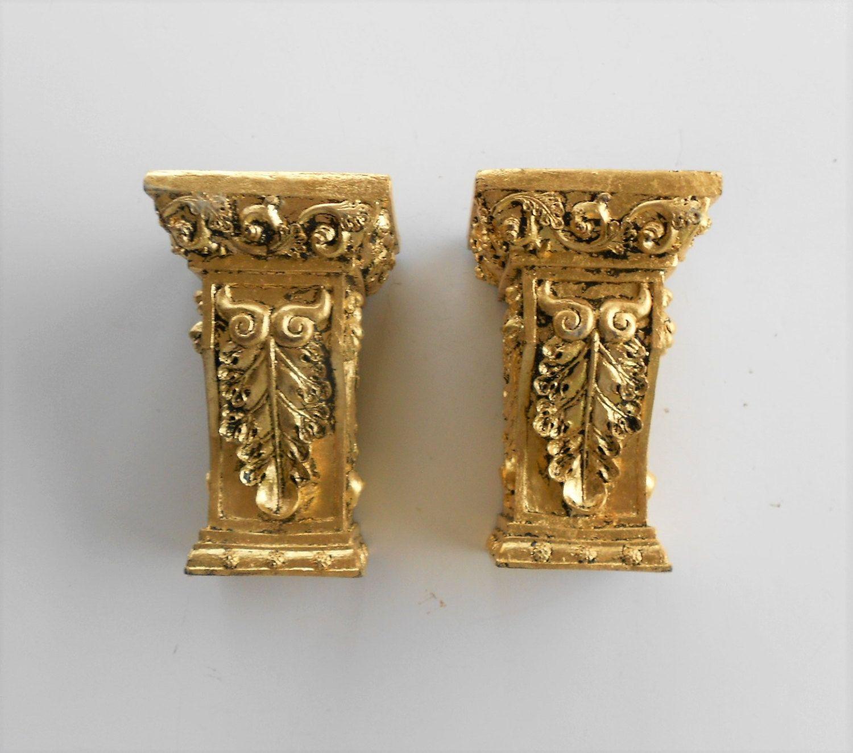 """6 5 """" H Gold Leaf Shelf Sconces Pair of Shelf Sconces Rectangular"""