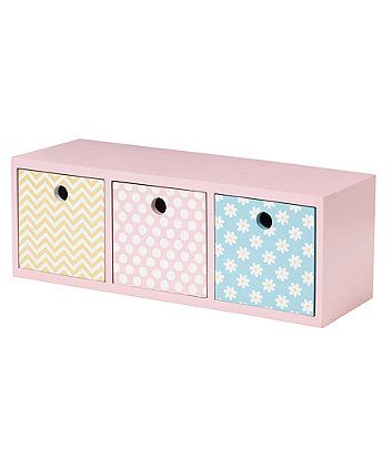 Mothercare Butterfly Fields Storage Cubes - cot tidy, nappy stacker & storage baskets - Mothercare