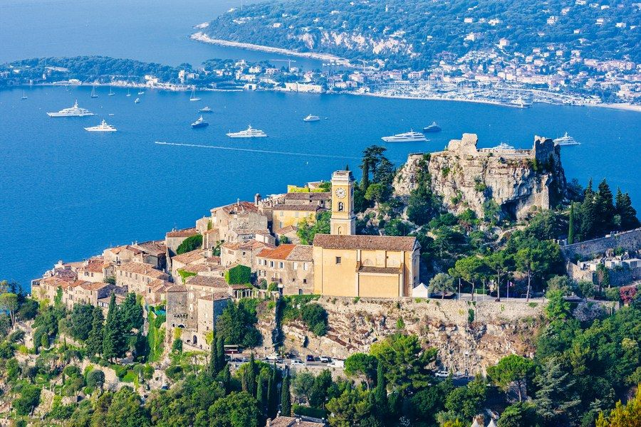 The picturesque village of Èze sits on a cliff overlooking the French Riviera. Founded sometime around 2000 B.C., Èze has become a tourist destination for its charming medieval aesthetic and breathtaking views of the nearby water. The current population is roughly 3,000 citizens.