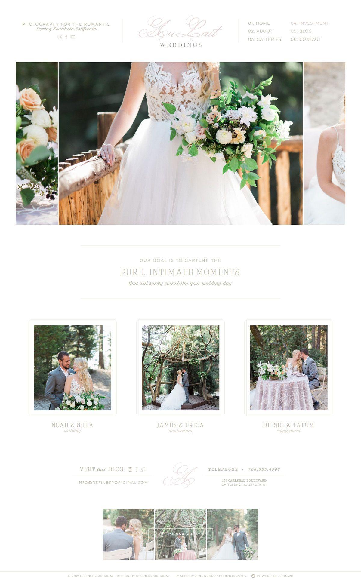 Au Lait Double Shot By Refinery Original Photography Website - Wedding photography website templates