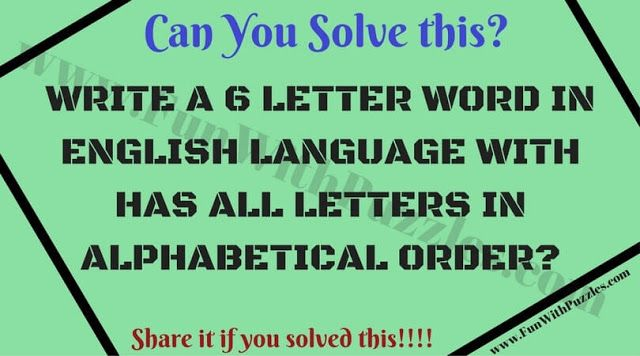 Write A  Letter Word In English Language With Has All Letters In